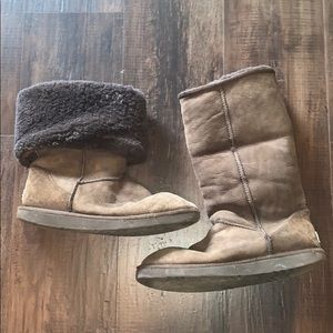 Chocolate dark brown tall Ugg boots